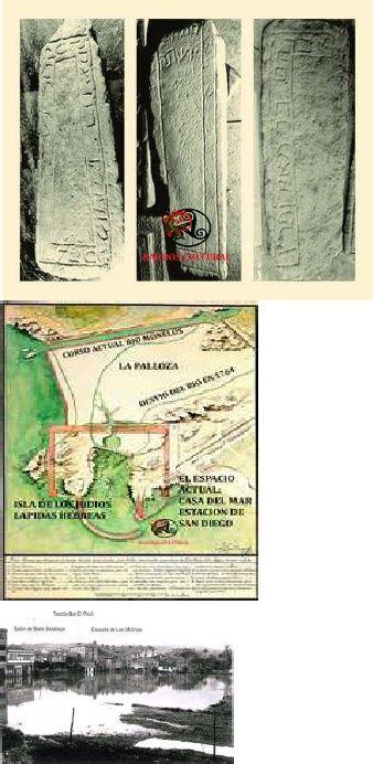 Al ir a iniciar la  construcción del Lazareto de Oza ,aparecieron los únicos vestigios sobre la presencia de judíos en nuestra ciudad,estos fueron llevados para Madrid,y de los cuales no existe ficha de cesión.