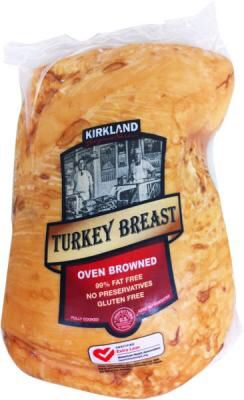 From Costco. I have always despised making a turkey and did not care for it either. I tried this today and I've changed my mind. This is a real breast, not a processed roll. I cooked twi in an oven roasting bag, and added my seasoning and 1/2 cup of chicken broth. It heated to safe temp in two hours an sliced like butter, it was so moist and tender. The slices were worthy of a food photo shoot. I will make this again. No muss-no fuss-no hassle-no waste.