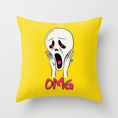 OMG! Throw Pillow by ALgaGIgu - $20.00 i,m not scared anymore.
