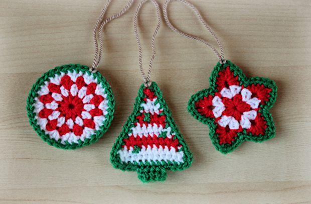 Decorazioni natale uncinetto   fai da te pupazzi   schemi crochet gratis   amigurumi decorazioni