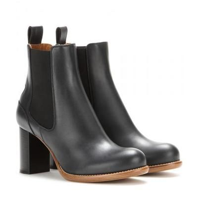 Chloé - Bernie leather ankle boots #boots #covetme #chloé