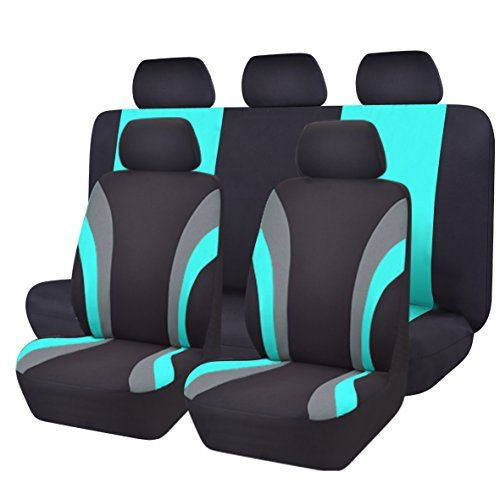 NEW ARRIVAL- CAR PASS Line Rider 11PCS Universal Fit Car Seat Cover -100% Breathable With 5mm Composite Sponge Inside,Airbag Compatible (Black And Mint Blue). For product info go to:  https://www.caraccessoriesonlinemarket.com/new-arrival-car-pass-line-rider-11pcs-universal-fit-car-seat-cover-100-breathable-with-5mm-composite-sponge-insideairbag-compatible-black-and-mint-blue/