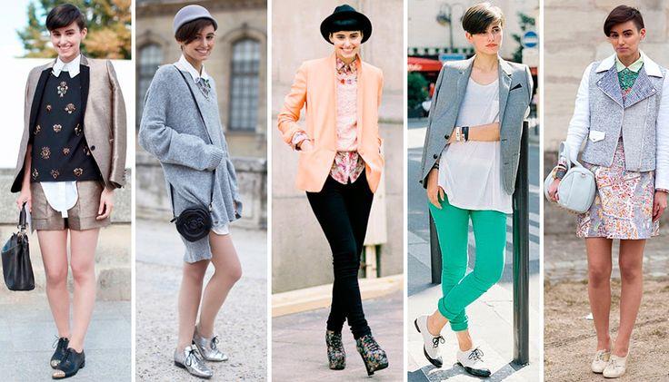 Энн-Кэтрин Фрей нельзя не заметить в пестрой толпе fashion-блогеров, стилистов и редакторов глянцевых журналов - помните эффект, который в свое время произвела короткая стрижка британской модели Агнесс Дейн?