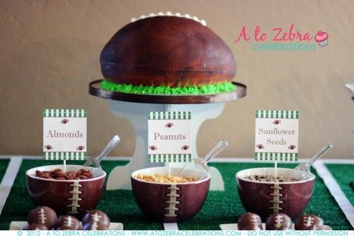 Cool #Football Cake. Looks like the real thing!: Super Bowl, Zebra Celebrations, Party'S, Fantasy Football, Football Parties, Football Season, Superbowl Party, Football Party, Party Ideas