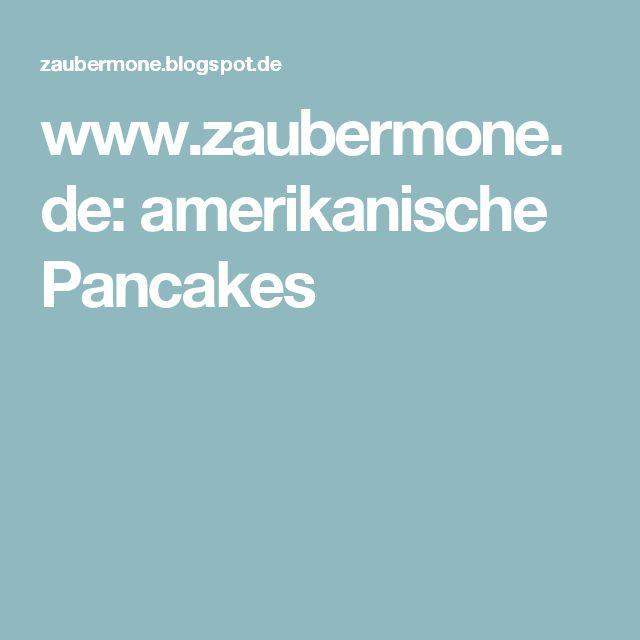 www.zaubermone.de: amerikanische Pancakes