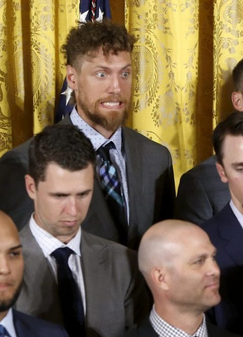 Hunter Pence visiting the White House.  Picture from Kimberly Leano.
