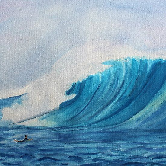 Big Wave Surfing Painting