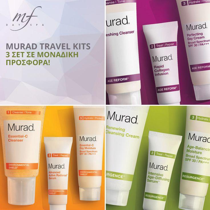 Καλοκαιρινοί, ταξιδιωτικοί συνδυασμοί! Πάρτε την ομορφιά μαζί σας! 3 μοναδικά travel kit Murad σε προσφορές που δεν μπορείτε να χάσετε...!  #murad #travel_kit #cosmetics #summer_essentials #summer #mfdayspa #offers #prosfores