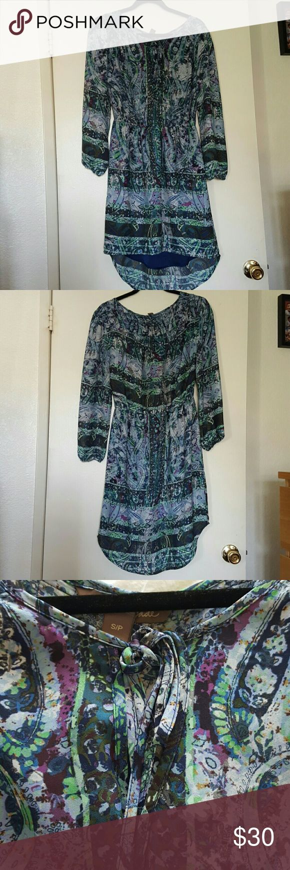 Charlie Jade blue and green dress size Small Excellent condition like new. Charlie Jade dress. Charlie Jade Dresses Mini