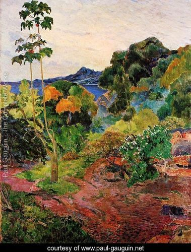 the Tahitian-inspired paintings of Paul Gauguin