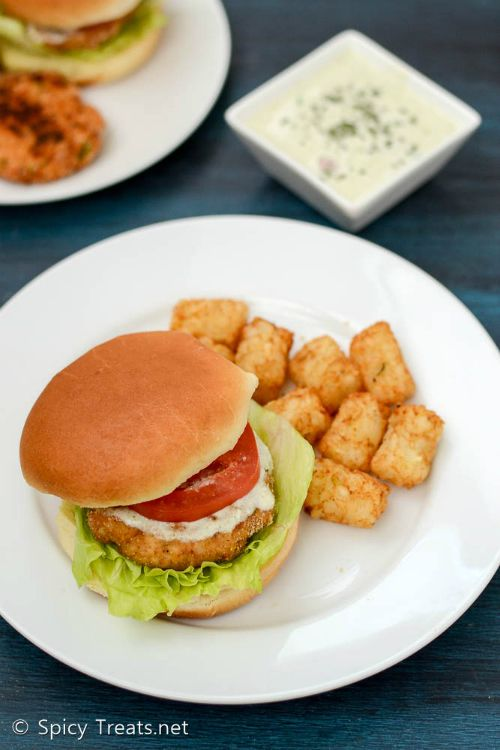 Baked Tandoori Chicken Burger