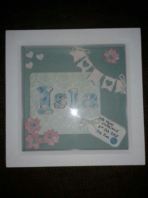 New baby box frame gift