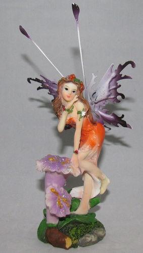 Poly Resin Flower Fairy Figurine Butterfly Wings