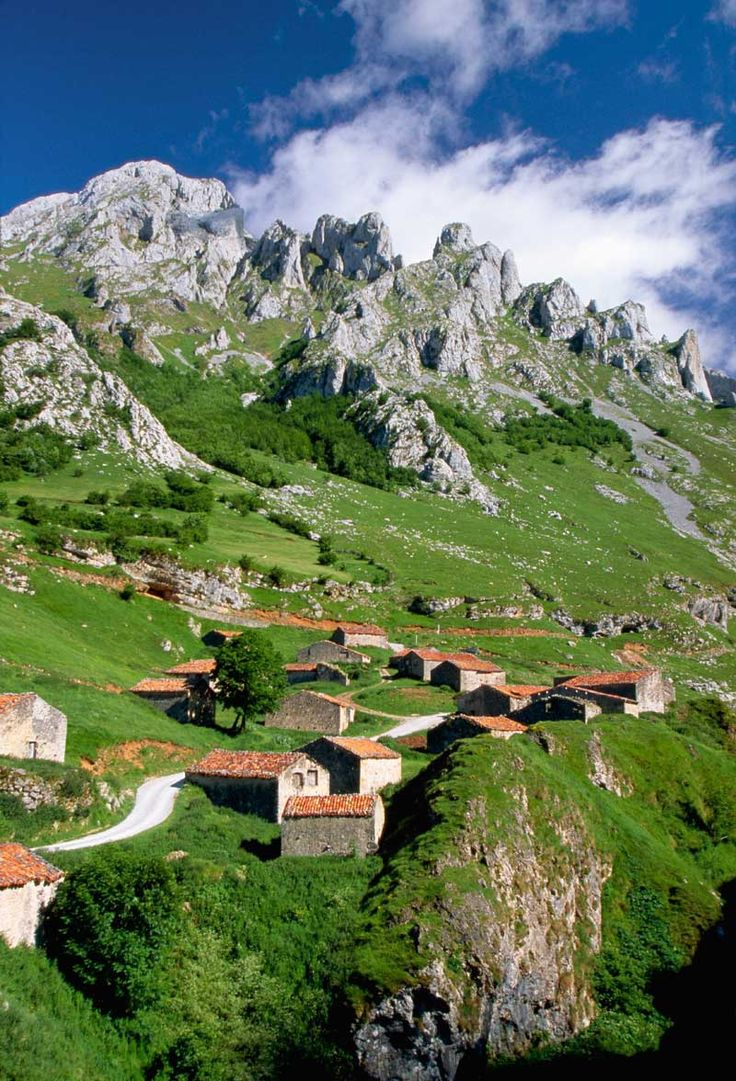 Asturias, Spain--We visited a town in Spain that looked like this