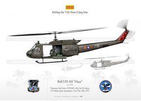 Vietnam Air Force UH-1H. 1973