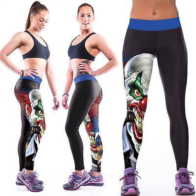Damen Fitnesshose Yogahose Sport Leggings Yoga Fitness Running Capri Jogginghose