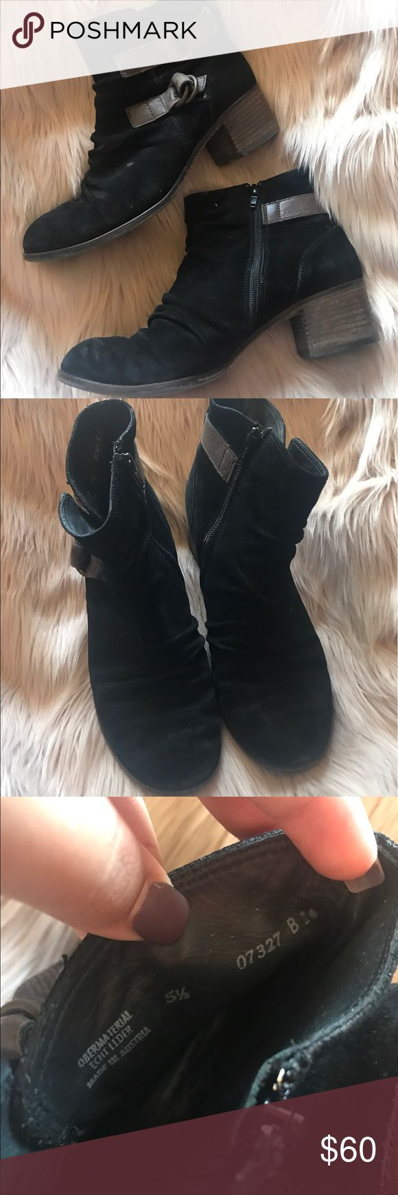 paul green munchen booties UK sizd 51/2 is a women's 8. good condition/ genuine leather Paul Green Shoes Ankle Boots & Booties
