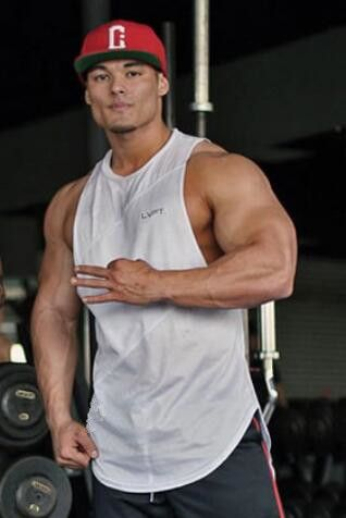 Muscleguys Stringer Tank Top Men Bodybuilding Clothing Fitness Mens Sleeveless gyms Vests Cotton Singlets Muscle Tops