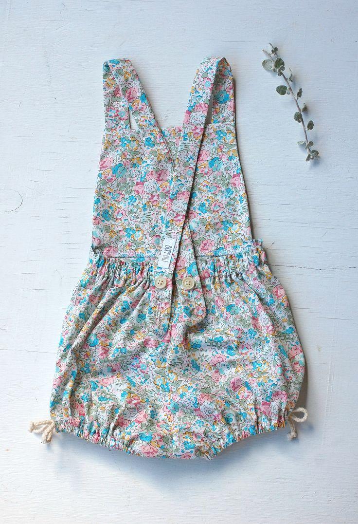 Handmade Floral Cotton Posey Playsuit | burrowbabywear on Etsy
