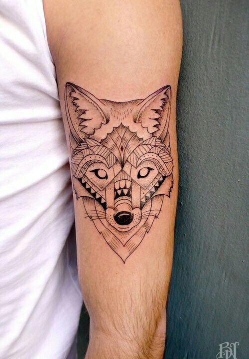 tattoo, art, and fox image