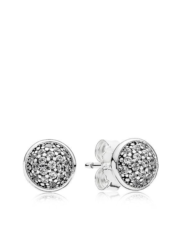 "Pandora Earrings - Sterling Silver & Cubic Zirconia Dazzling Studs | Imported | Style #290726CZ  | 0.4"" diameter 