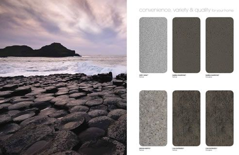 stone look laminate colours Alta Forma new on trend range from Nover and Co.