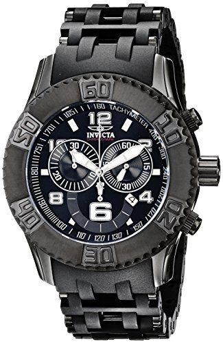 Invicta Herren 6713 Sea Spider-Sammlung Chronograph Black Ion-Plated Uhr