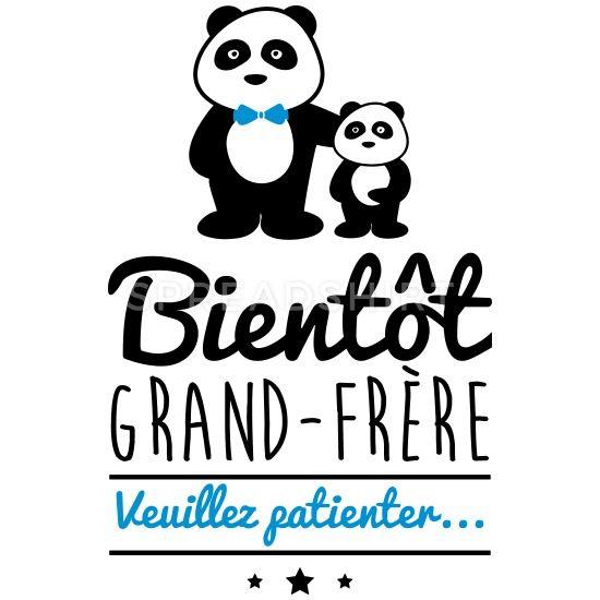 Spreadshirt Bient/ôt Grand-Fr/ère T-Shirt B/éb/é
