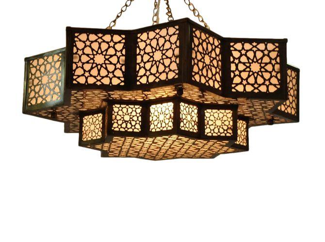 Moroccan Brass Hanging Lamp Lantern – Unique and attractive Moroccan style brass hanging lamp lantern. This unique piece of Moroccan art is made of brass with oxidize finish.
