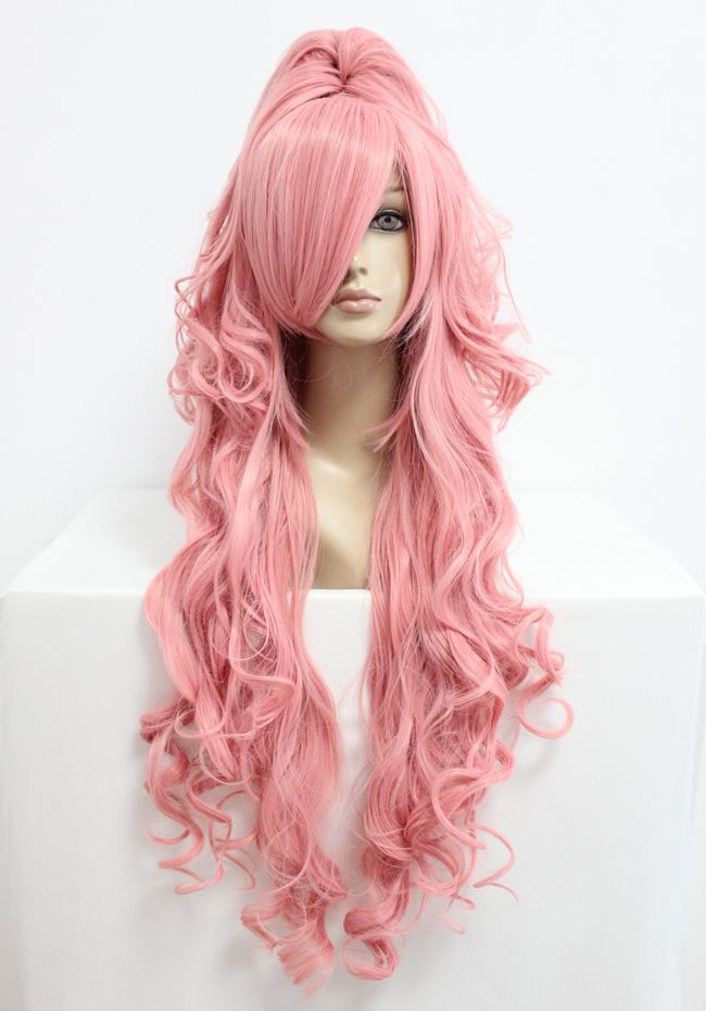 MCOSER Free shipping 90cm Long VOCALOID Megurine Luka Pink Cosplay Costume Anime…