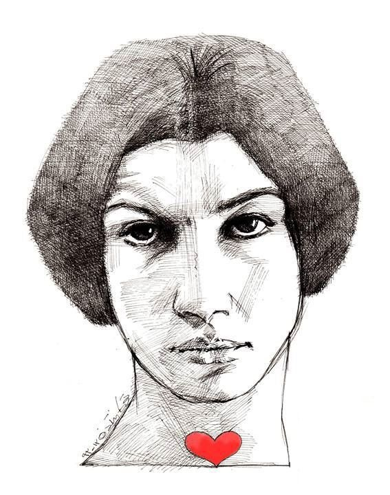 Forough Farrokhzad by Touka Neyestani