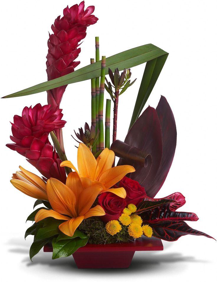 Teleflora's Tropical Bliss Flowers, Teleflora's Tropical Bliss Flower Bouquet - Teleflora.com