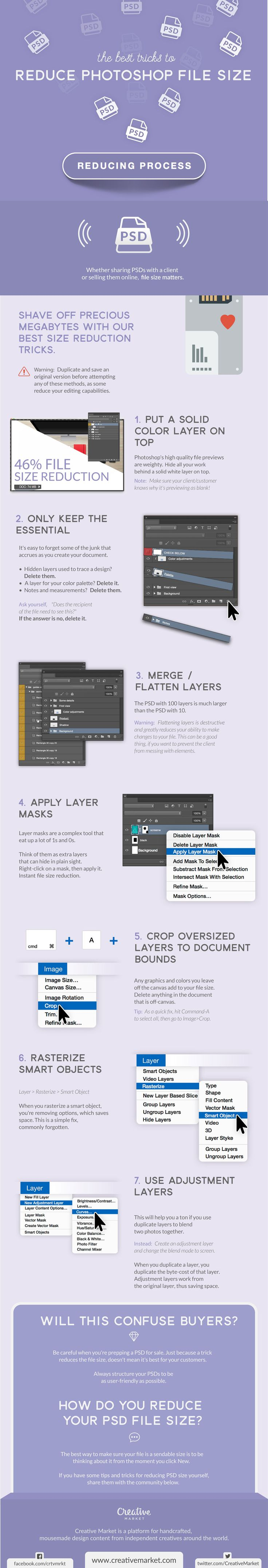 Struggling with Photoshop file size? If you can relate, you'll want to bookmark (and print!) this infographic.