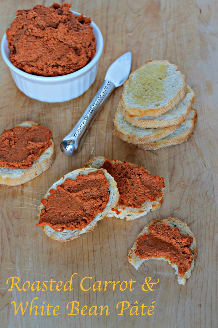 Roasted Carrot & White Bean Pâté - flavorful and healthy. Use it as a dip or a spread (or just eat it with a spoon like my 3 year old twins to!)