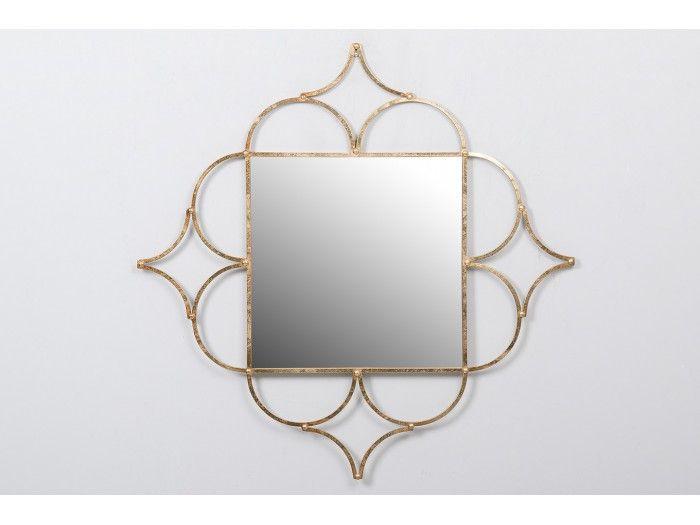 Oglinda ANTIQUE MIRROR GOLD METAL 99x2x99 CM - Henderson