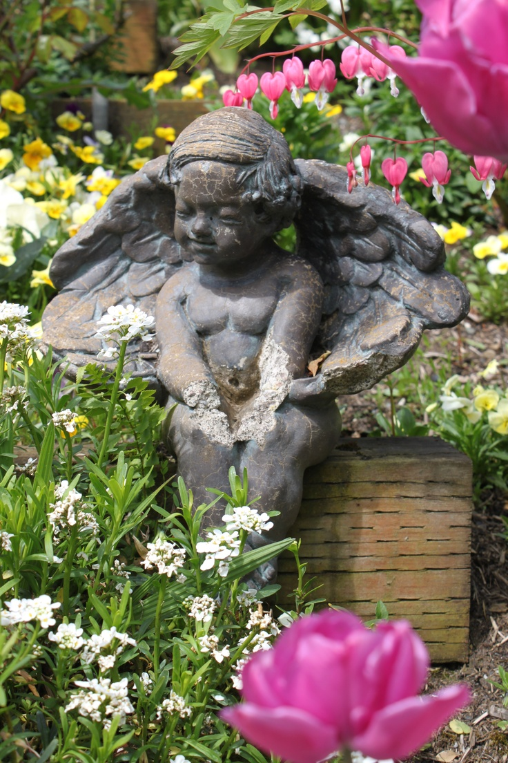 Mejores 472 im genes de statuaries bird bathes etc en - Estatuas de jardin ...