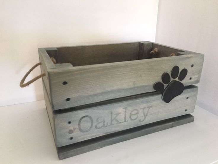 Personalised Canine Toy Field, Canine Toy Crate, Pet Toy Field, Pet Equipment, Pet Storage, Wood Storage Crate
