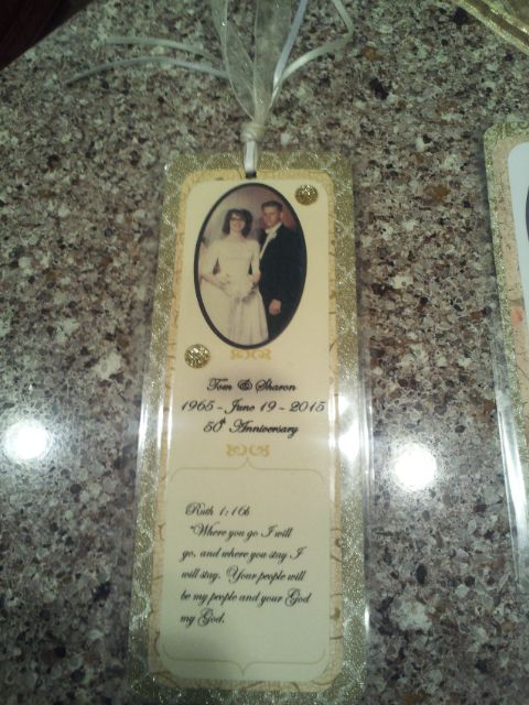 50th Anniversary Party Favor Bookmark