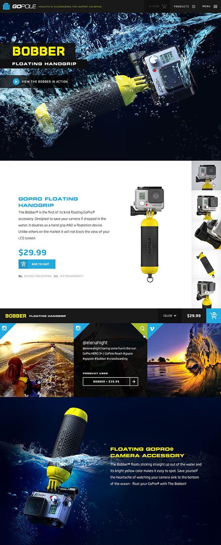 Unique Web Design, GoPole Bobber via @marcosmartins #Web #Design #Product