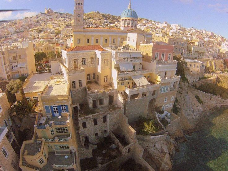 The capital of Syros, Hermoupolis. Maybe also the cultural capital of Europe in 2021. INfo at http://www.omilo.com/the-european-capital-of-culture-in-greece-in-2021/