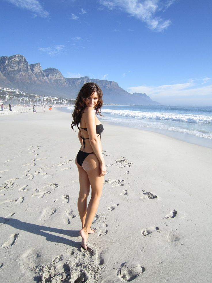 Famous Cape Town Model on Long beach