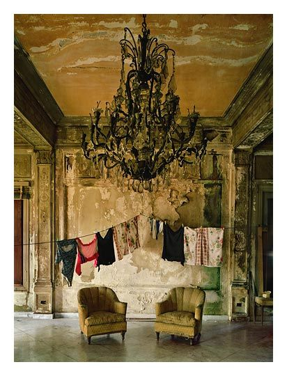 Michael Eastman has a series of photos of dilapidated Cuban mansions. Beautiful and haunting. Young Gallery