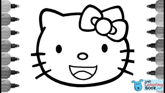 hello kitty smiley face coloring pages