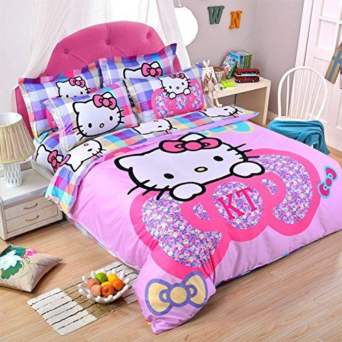 mzpride hello kitty bedding sets cartoon kids bedding set twin to view further for