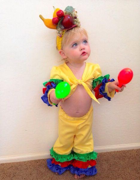 Toddler girl costume. Carmen miranda. Chiquita banana.