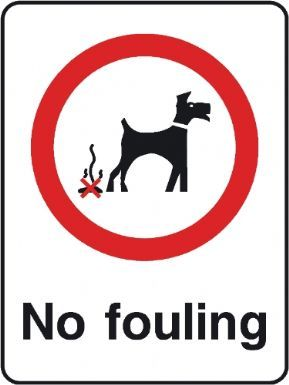 No fouling playground safety sign