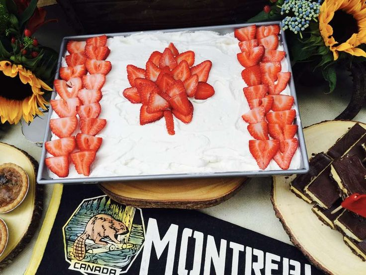 Cool cake at a Canada Day party! See more party planning ideas at CatchMyParty.com!