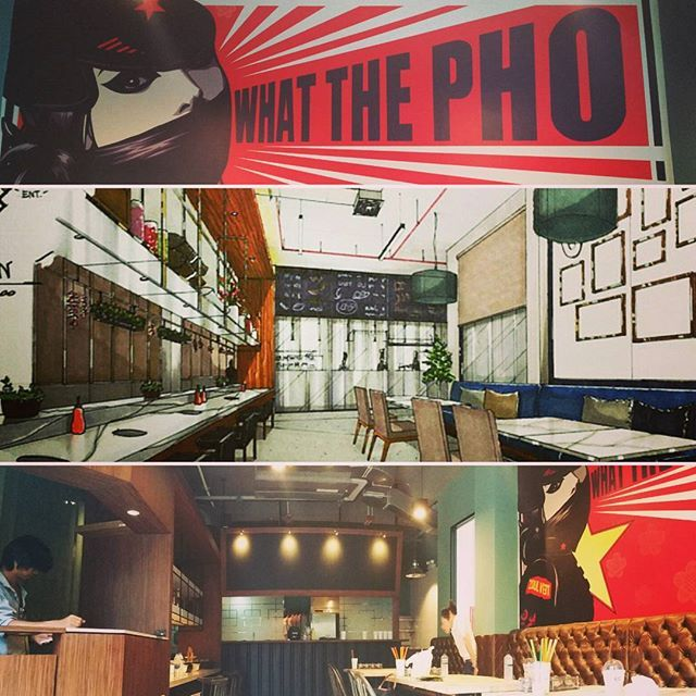 """To be opened within a week. """"What the Pho"""" by Zoulviet #pho #cafe #hotpot  #vietnamese #restaurant #interior #design #site #visit"""