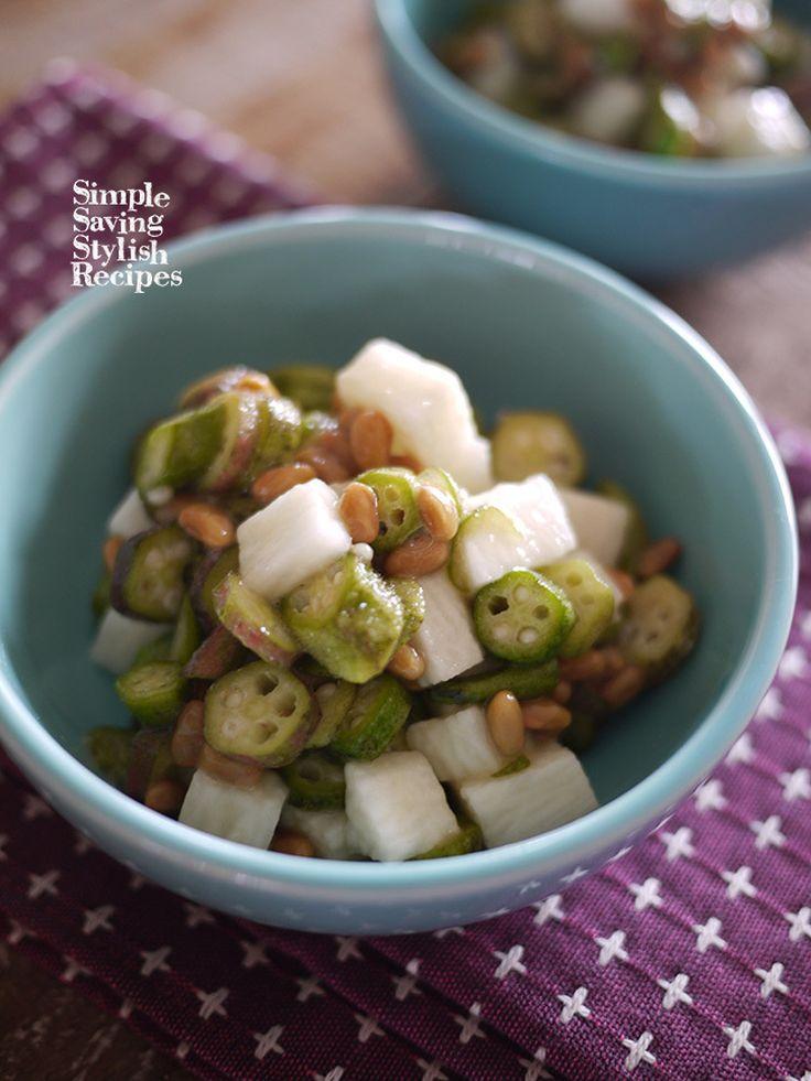 3分で出来るもう1品おかず オクラと納豆と山芋の和え物 by SHIMA /…