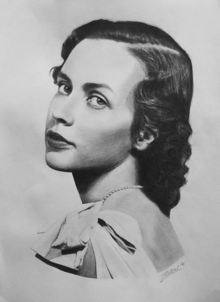 gróf Edelsheim-Gyulai Ilona portrait drawing